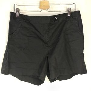 ann taylor shorts size 14 pocket front black